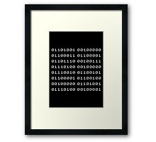 Binary... i can't read it! Framed Print