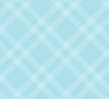 Checkered Gingham Pattern (Squared Pattern) - Blue by sitnica