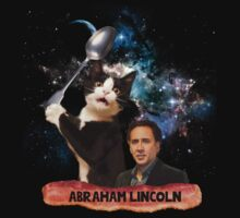 Abraham Lincoln Nicolas Cage Cat Spoon Space Bacon by bluestubble