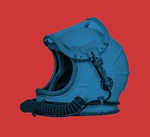 Space Helmet Blue by Matt Rockman