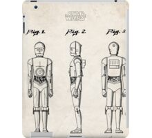 Star Wars C3PO Robot US Patent Art iPad Case/Skin