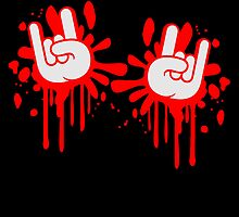 Blood splatter graffiti 2 Metal hand finger by Style-O-Mat