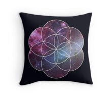 Cosmic Seed of Life Throw Pillow