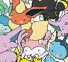 All em Eevees by kelsmister