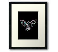 Colourful Clockwork Angel Framed Print