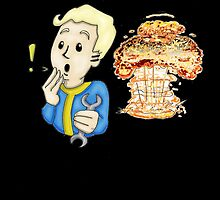 Fallout 3- Vault Boy blew up Megaton by VenereRossa