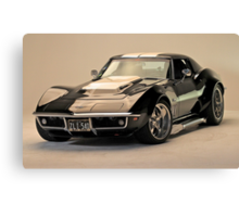 Betty the 69 Corvette Canvas Print