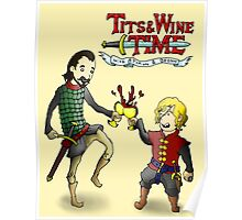 Tits & Wine Time Poster