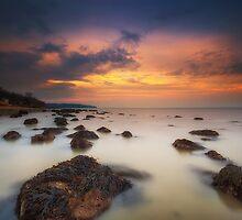 Woodside Beach Sunset by manateevoyager