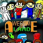 Awesome Land Poster #1 by DonutStudios