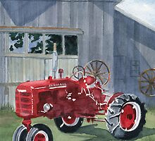 Neighbor Don's FARMALL by Marsha Elliott