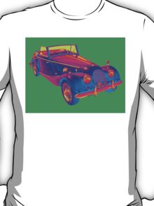 1964 Morgan Plus 4  Green and Blue Pop Art T-Shirt