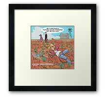 Couch Potato Farming Framed Print