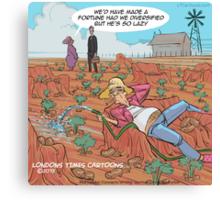 Couch Potato Farming Canvas Print