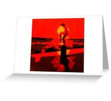 Karate Kid Crane Kick Greeting Card