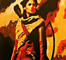 Katniss Everdeen from The Hunger Games by Matthew Colebourn