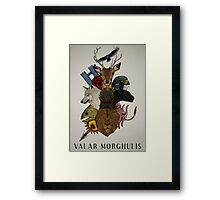 Valar Morghulis (Game of Thrones) Framed Print