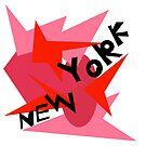 New York Throw Pillow B by Vitta