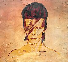 Aladdin Sane 'Rock Art' Album Cover by Scott Carruthers