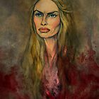 The Portrait of Cersei in Crimson and Gold by AlexKujawa