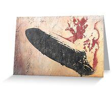 Led Zeppelin i 'Rock Art' Album Cover Greeting Card