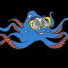 Cartoon Octopus Sunglasses by Graphxpro