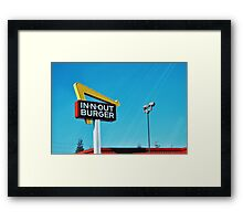 In n Out Framed Print