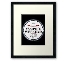 Vampire Weekend // Cape cod rowing Framed Print