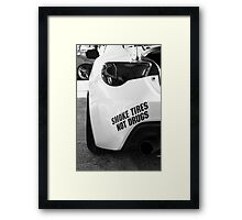 Smoke Tires Framed Print