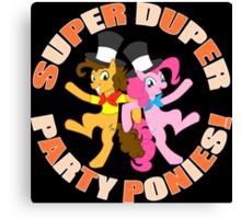 Super Duper Party Ponies! Canvas Print