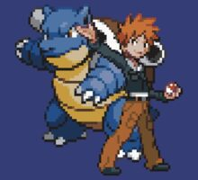Blue and Blastoise by GreenTheRival