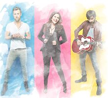 Lady Antebellum - Downtown (watercolor effect) by Scienceandfaith