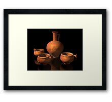 Ancient Roman Pottery Framed Print