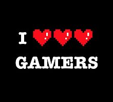 I heart Gamers by tshirtbaba