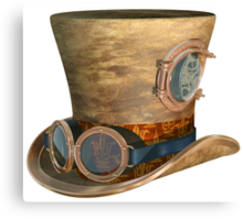 Steampunk Hat and Goggles Canvas Print