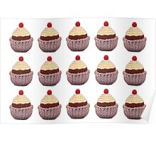 Knitted Cupcake Poster