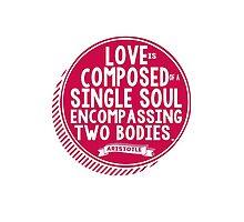 Aristotle Love Quote Romantic Typography by geekchicprints