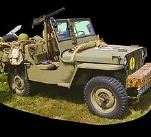 Willys World War Two Army Jeep by KWJphotoart