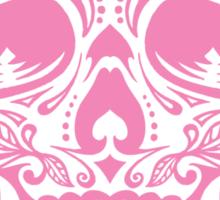 Sugar Skull, Day Of the Dead, Halloween Pink SugarSkull Sticker