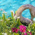 Goose, Flowers and Pond by John Butler
