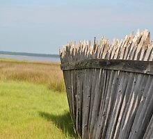 Fort Fisher Fence on Cape Fear by FlipFlopArt