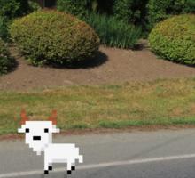 8 Bit Goat, In a High-Def World Sticker