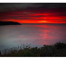 Sunset at White Rock by Jean Lelliott Photographic Print