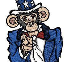 Uncle Sam Monkey by Brett Gilbert