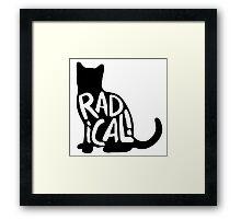 Radical Cat Framed Print