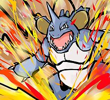 Shiny Nidoking | Earth Power by ishmam