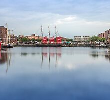 Canning Dock reflections by Paul Madden
