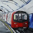 London Underground Northern Line Subway Train Acrylics by JamesPeart