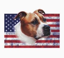 AmStaff American Staffordshire Terrier USA grunge FLAG by bullylove