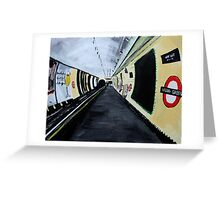 London Underground Wood Green Piccadilly Line Tube Station Acrylic Painting Greeting Card